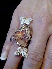 bague 3 papillons  or 18 carats (750/1000) gold
