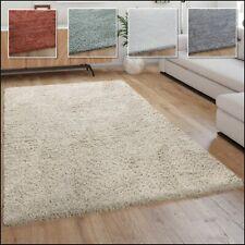 Hochflor Teppich, Weicher Moderner Wohnzimmer Shaggy in Flokati Optik, Einfarbig