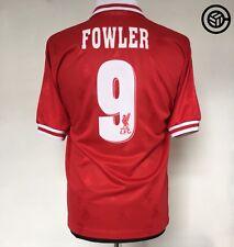 FOWLER #9 Liverpool Reebok Home Football Shirt Jersey 1996/97 (S)