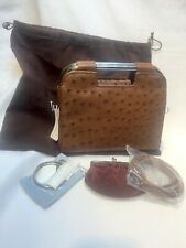 JUDITH LEIBER LIGHT BROWN OSTRICH HANDBAG - NEW W/TAG -RARE- PART OF COLLECTION