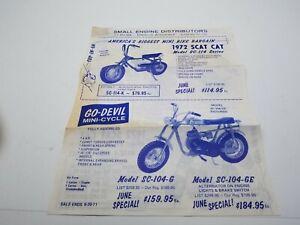 1972 Mini Bike Brochure Scat Cat,Go-Devil