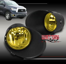 07-13 TOYOTA TUNDRA/08-11 SEQUOIA BUMPER DRIVING FOG LIGHT LAMP YELLOW W/HARNESS