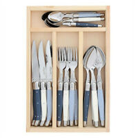 Laguiole 24 piece cutlery set Atelier by Jean Dubost (mixed blue and white)