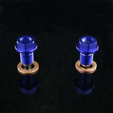 2pcs M10*1.25 Billet Magnetic Oil Drain Plug Bolts Yamaha YZ125 YZ250F YZ450F