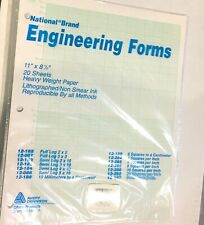 Vintage National Engineering Forms 12 182 Semi Log 2 X 10 Graph Paper Unopened