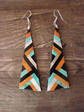 Santo Domingo Multi-Stone Inlay Dangle Earrings by Chaslyn Crespin