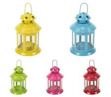 Set of 5 Colourful Indoor Outdoor Hanging Candle Lantern Home Decor Table Top