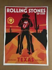 Rolling Stones Dallas Texas 6/15/15 Original1st Edition Concert Poster Hand #ed