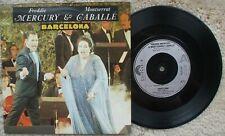 Freddie Mercury / Caballe - Barcelona - EXCELLENT - UK 45 + PS POSP 887 Queen