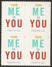 US 4978 From Me To You forever block MNH 2015