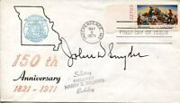 John W Snyder US Secretary of the Treasury Truman Cabinet Signed Autograph FDC