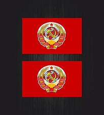 2x Sticker ussr cccp sssr urss russia soviet union flag decal car emblem russian