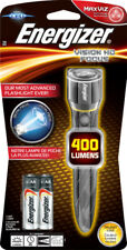 Energizer LED Vision HD Metal Torch with 2x AA batteries - 400 Lumens S12117