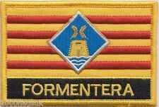 Spain Balearic Islands Formentera Flag Embroidered Patch Badge - Sew or Iron on