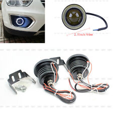 64MM 12V Car LED Angel Eyes Fog Light Lamp Projector Lens Bulb DRL Kits New CO