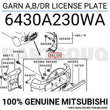 6430A230WA Genuine Mitsubishi GARN A,B/DR LICENSE PLATE
