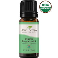 Plant Therapy Organic Peppermint Essential Oil 100% Pure, Undiluted, Natural