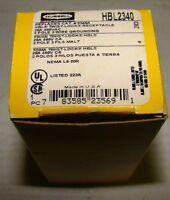 Hubbell HBL2340 Twist-Lock Receptacle, 20 Amp, 480VAC, 2P, 3W, NIB