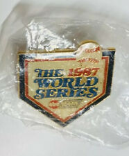 1987 MLB Baseball World Series ABC Sports Media Pin Twins Vs Cardinals RARE