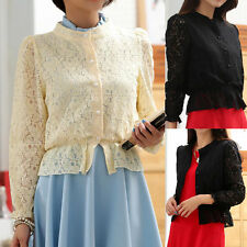 Chiffon Collared Classic Tops & Shirts for Women