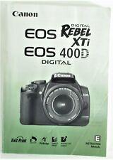 Canon EOS Rebel XTi/400D Instruction Manual