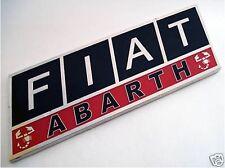 ENAMEL CHROME FIAT ABARTH BADGE Black and Red Colours PUNTO 500 STILO