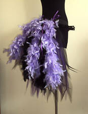 Black Purple Burlesque  Bustle Belt Feathers size Small Fancy Dress Party