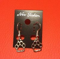 Pet lover Paw Dog print earrings Lot Of 10 Great For Favors Gifts School Mascot