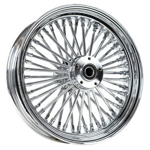 Chrome 16 x 3.5 46 Fat King Spoke Rear Wheel Rim Harley Touring Dyna Softail XL