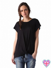 NEW With Tags Diesel Black T-Fuxi-A T-Shirt Tie Top XS RRP £80