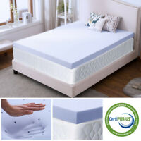 4 Inch Lavender Full Size Memory Foam Mattress Topper Gel CertiPUR-US Ventilated