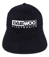 Daewoo Electronics Baseball Hat Cap Embroidered Black Snap Back