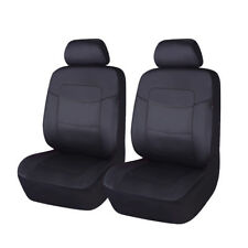 Deluxe  PU leather Car seat covers front pair easy clean new arrival Black SUV
