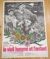 Affiche de cinéma : LE VIEIL HOMME ET L'ENFANT de CLAUDE BERRI