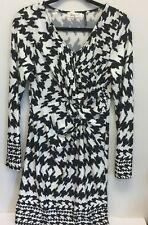 Shira P Career Dress Size M White with Black 3/4 Sleeves   NWOT  GG12