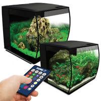 Fluval Flex LED Aquarium Nano Tank Black 34L / 57L Bowfront Filter Fish