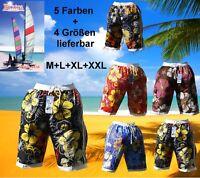BERMUDA BADEHOSE BADE SHORT SHORTS HAWAII verschiedene Farben in M L XL XXL