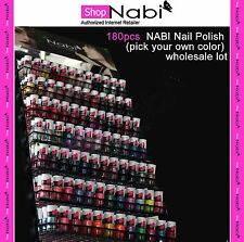 180pcs Nail Manicure NABI Nail Polish (pick your own color) wholesale lot