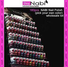 180pcs Nail Manicure NABI Nail Polish (pick your own color) wholesale lot