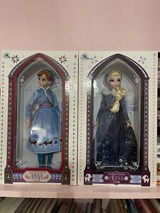"Disney Olaf's Frozen Adventure Elsa & Anna Doll figure 17"" Limited Edition NEW"
