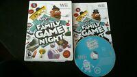 Hasbro Family Game Night (Nintendo Wii, 2008) Complete