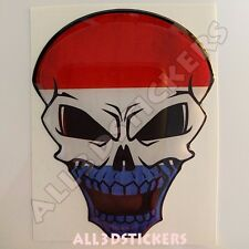 Sticker Flag Netherlands Skull Adhesive Decal Resin Domed Car Moto Tablet 3D