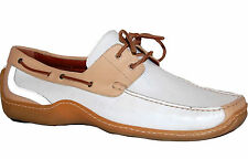 Donald J.Pliner White Beige Lace Leather Casual Men's Shoes Size 12 Italy