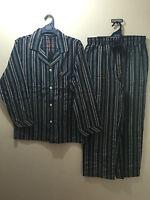BNWT Mens Sz XX Large Coast Clothing Co Navy Stripe Long Style Pyjamas RRP $60
