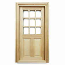 Dollhouse Furniture Wooden 9 Pane Door 1:12 Miniature DIY Accessories