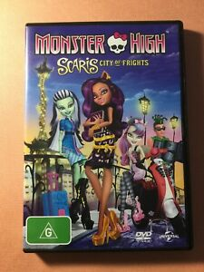 MONSTER HIGH SCARIS CITY OF FRIGHTS DVD--IN VGC