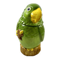Vintage Metlox Poppytrail Parrot Green Bird Cookie Jar Ceramic