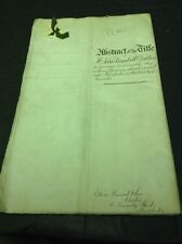 Old Lancashire Document 1903, Dalton Family City+ Chorlton Upon Medlock 1903