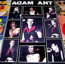"RARE ADAM ANT ""COLLAGE"" ORIGINAL '81 CONCERT Tour Wall Pin-Up Music POSTER #7012"