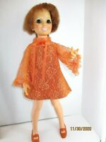 "Vintage Ideal 18"" CRISSY Hair Growing Doll 1968-1969 Original dress panties shoe"